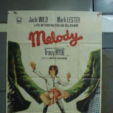 Cine: CDO 389 MELODY MARK LESTER TRACY HYDE JACK WILD POSTER ORIGINAL 70X100 ESTRENO. Lote 195187303