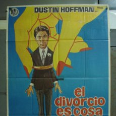 Cine: CDO 39 EL DIVORCIO ES COSA DE TRES DUSTIN HOFFMAN STEFANIA SANDRELLI POSTER ORIGINAL 70X100 ESTRENO. Lote 195187598