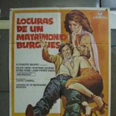 Cine: CDO 395 LOCURAS DE UN MATRIMONIO BURGUES BRUCE DERN ANN MARGRET MAC POSTER ORIGINAL 70X100 ESTRENO. Lote 195200277