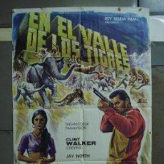 Cine: CDO 396 EN EL VALLE DE LOS TIGRES CLINT WALKER ESCOBAR POSTER ORIGINAL 70X100 ESTRENO. Lote 195204673
