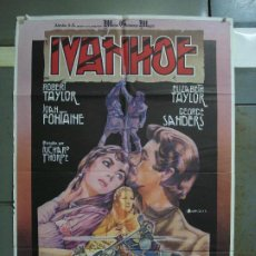 Cine: CDO 400 IVANHOE ROBERT ELIZABETH TAYLOR IVAN ZULUETA POSTER ORIGINAL 70X100 ESPAÑOL R-81. Lote 195209981