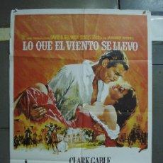 Cine: CDO 402 LO QUE EL VIENTO SE LLEVO CLARK GABLE VIVIEN LEIGH POSTER ORIGINAL 70X100 ESPAÑOL R-88. Lote 195210827