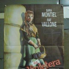 Cine: CDO 403 LA VIOLETERA SARA MONTIEL POSTER ORIGINAL 70X100 ESPAÑOL R-80S. Lote 195211283