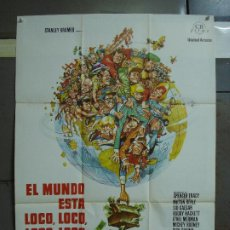 Cine: CDO 406 EL MUNDO ESTA LOCO LOCO LOCO LOCO SPENCER TRACY JACK DAVIS POSTER ORIG 70X100 ESPAÑOL R-74. Lote 195213541