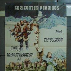 Cine: CDO 408 HORIZONTES PERDIDOS PETER FINCH LIV ULLMAN OLIVIA HUSSEY POSTER ORIGINAL 70X100 ESTRENO. Lote 195214937