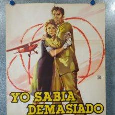 Cine: YO SABIA DEMASIADO. ANA LUISA PELUFFO, CARLOS RIVAS, LORENA VELAZQUEZ. AÑO 1961. POSTER ORIGINAL. Lote 195216658