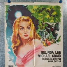Cine: EL VALLE DE LAS MIL COLINAS. JOAN BRICKHILL, MICHAEL CRAIG, ANNA GAYLOR. AÑO 1959. POSTER ORIGINAL. Lote 195217075