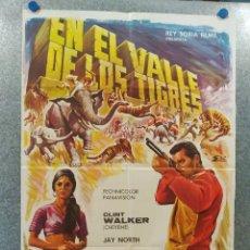Cine: EN EL VALLE DE LOS TIGRES. CLINT WALKER CHEYENE, JAY NORTH . AÑO 1967. POSTER ORIGINAL. Lote 195217313