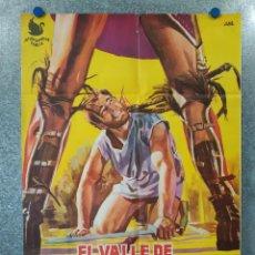 Cine: EL VALLE DE LOS HOMBRES DE PIEDRA. RICHARD HARRISON, ÁNGEL JORDÁN, AÑO 1963. POSTER ORIGINAL. Lote 195217567