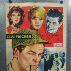 Cine: PETER VOSS CABALLERO DETECTIVE. O.W. FISCHER, LINDA CHRISTIAN AÑO 1960. POSTER ORIGINAL. Lote 195218641