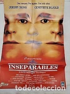 INSEPARABLES. CARTEL. DIRIGIDA POR DAVID CRONENBERG CON JEREMY IRONS, GENEVIÈVE BUJOLD (Cine - Posters y Carteles - Clasico Español)