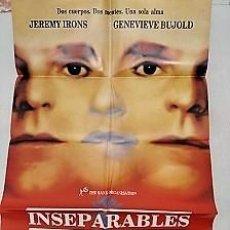 Cine: INSEPARABLES. CARTEL. DIRIGIDA POR DAVID CRONENBERG CON JEREMY IRONS, GENEVIÈVE BUJOLD. Lote 195297938