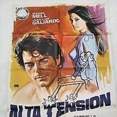 Cine: ALTA TENSIÓN. CARTEL. DIRIGIDA POR JULIO BUCHS CON MARISA MELL, JUAN LUIS GALIARDO. Lote 195298586