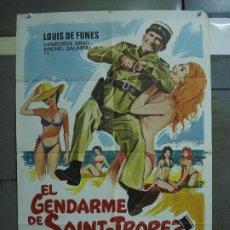 Cine: CDO 431 EL GENDARME DE SAINT TROPEZ LOUIS DE FUNES POSTER ORIGINAL 70X100 ESPAÑOL. Lote 195299070