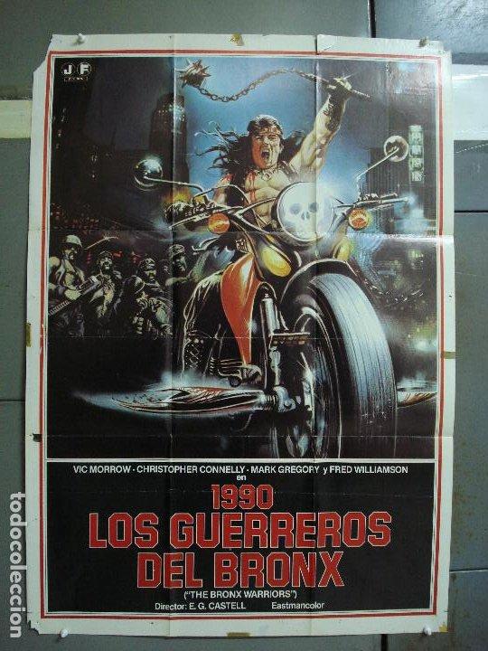 CDO 434 1990 LOS GUERREROS DEL BRONX ENZO G. CASTELLARI SCI-FI POSTER ORIGINAL 70X100 ESTRENO (Cine - Posters y Carteles - Ciencia Ficción)