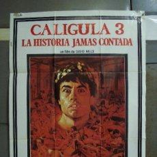 Cine: CDO 441 CALIGULA 3 JOE D'AMATO LAURA GEMSER POSTER ORIGINAL 70X100 ESTRENO . Lote 195301633