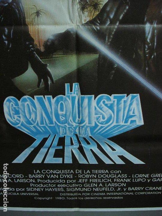 Cine: CDO 442 GALACTICA LA CONQUISTA DE LA TIERRA POSTER ORIGINAL 70X100 ESTRENO - Foto 5 - 195301873