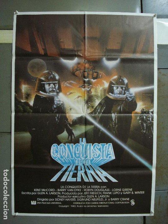 CDO 442 GALACTICA LA CONQUISTA DE LA TIERRA POSTER ORIGINAL 70X100 ESTRENO (Cine - Posters y Carteles - Ciencia Ficción)