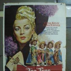 Cine: CDO 445 LOS TRES MOSQUETEROS GENE KELLY LANA TURNER MAC POSTER ORIGINAL 70X100 ESPAÑOL. Lote 195302438
