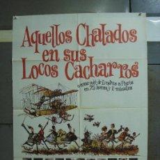 Cine: CDO 447 AQUELLOS CHALADOS ALBERTO SORDI GERT FROEBE MAC POSTER ORIGINAL 70X100 ESPAÑOL R-74. Lote 195304301