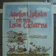 Cine: CDO 448 AQUELLOS CHALADOS ALBERTO SORDI GERT FROEBE POSTER ORIGINAL 70X100 ESPAÑOL R-80S. Lote 195304477