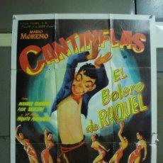 Cine: CDO 452 EL BOLERO DE RAQUEL MARIO MORENO CANTINFLAS POSTER ORIGINAL 70X100 ESPAÑOL R-81. Lote 195305776