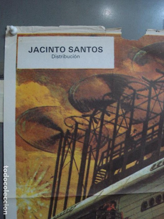 Cine: CDO 453 EL AMO DEL MUNDO VINCENT PRICE JULIO VERNE CIENCIA FICCION POSTER ORIG 70X100 ESPAÑOL R-82 - Foto 3 - 195306193