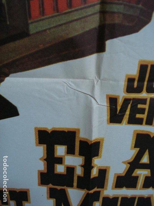 Cine: CDO 453 EL AMO DEL MUNDO VINCENT PRICE JULIO VERNE CIENCIA FICCION POSTER ORIG 70X100 ESPAÑOL R-82 - Foto 4 - 195306193