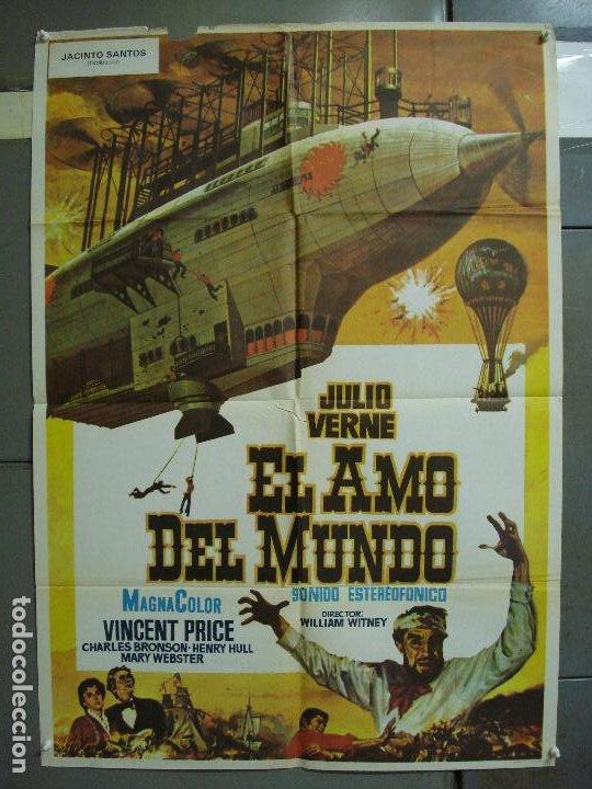 CDO 453 EL AMO DEL MUNDO VINCENT PRICE JULIO VERNE CIENCIA FICCION POSTER ORIG 70X100 ESPAÑOL R-82 (Cine - Posters y Carteles - Ciencia Ficción)