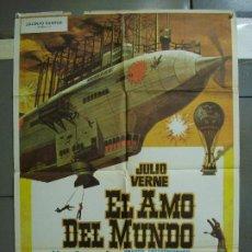 Cine: CDO 453 EL AMO DEL MUNDO VINCENT PRICE JULIO VERNE CIENCIA FICCION POSTER ORIG 70X100 ESPAÑOL R-82. Lote 195306193