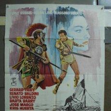Cine: CDO 450 LOS INVENCIBLES TONY RUSSEL HELGA LINE PEPLUM POSTER ORIGINAL POSTER ORIGINAL 70X100 ESPAÑOL. Lote 195306648