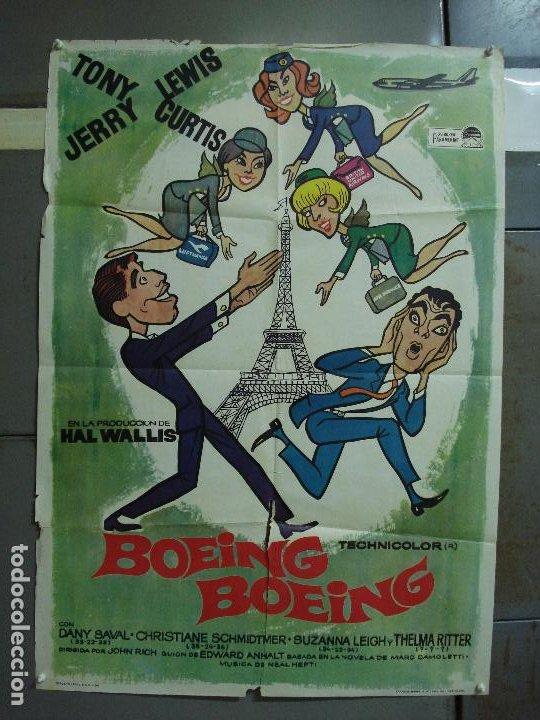 CDO 455 BOEING BOEING JERRY LEWIS TONY CURTIS POSTER ORIGINAL 70X100 ESTRENO (Cine - Posters y Carteles - Comedia)