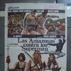Cine: CDO 459 LAS AMAZONAS CONTRA LOS SUPERMAN POSTER ORIGINAL 70X100 DE ESTRENO. Lote 195310731