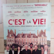 Cine: CARTEL CINE C'EST LA VIE! - ERIC TOLEDANO - 98X68. Lote 195312188