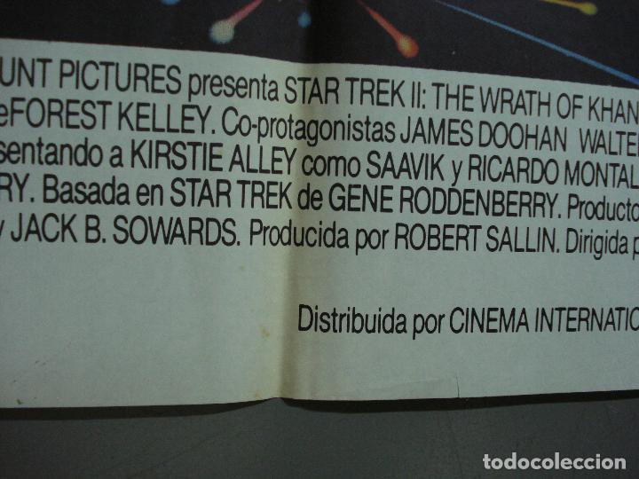 Cine: CDO 463 STAR TREK 2 LA IRA DE KHAN SHATNER NIMOY BOB PEAK POSTER ORIGINAL 70X100 ESTRENO - Foto 6 - 195313680