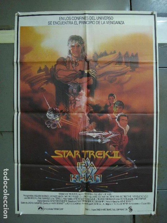 CDO 463 STAR TREK 2 LA IRA DE KHAN SHATNER NIMOY BOB PEAK POSTER ORIGINAL 70X100 ESTRENO (Cine - Posters y Carteles - Ciencia Ficción)