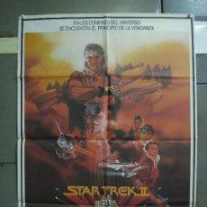 Cine: CDO 463 STAR TREK 2 LA IRA DE KHAN SHATNER NIMOY BOB PEAK POSTER ORIGINAL 70X100 ESTRENO. Lote 195313680