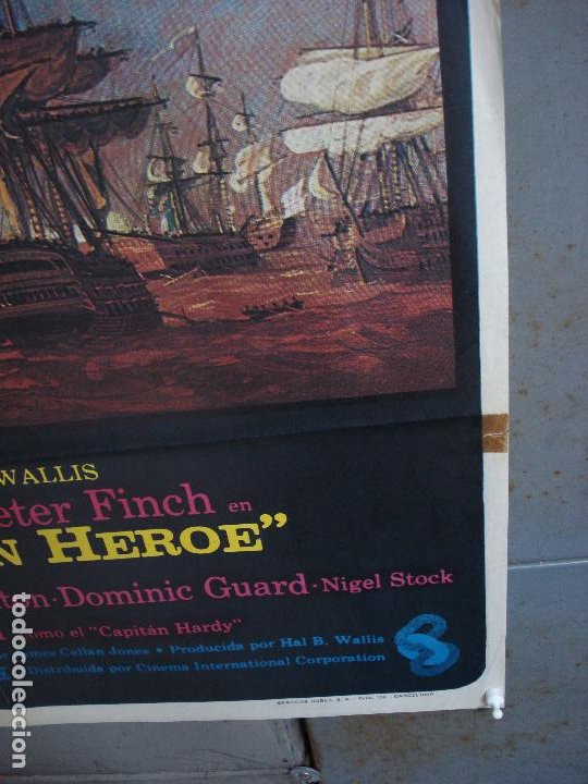 Cine: CDO 468 LEGADO DE UN HEROE GLENDA JACKSON PETER FINCH POSTER ORIGINAL 70X100 ESTRENO - Foto 8 - 195315968