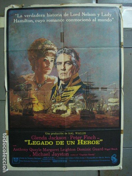 CDO 468 LEGADO DE UN HEROE GLENDA JACKSON PETER FINCH POSTER ORIGINAL 70X100 ESTRENO (Cine - Posters y Carteles - Aventura)