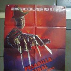 Cine: CDO 471 PESADILLA FINAL LA MUERTE DE FREDDY ELM STREET 6 ROBERT ENGLUND POSTER ORIG 70X100 ESTRENO. Lote 195317025