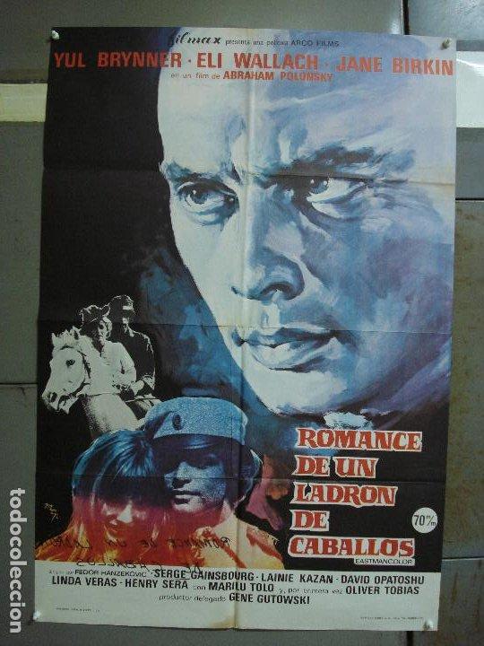 CDO 472 ROMANCE UN LADRON DE CABALLOS YUL BRYNNER JANE BIRKIN GAINSBOURG MCP POSTER 70X100 ESTRENO (Cine - Posters y Carteles - Aventura)