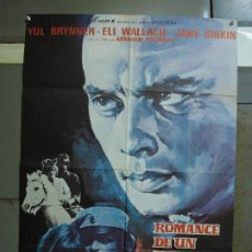 Cine: CDO 472 ROMANCE UN LADRON DE CABALLOS YUL BRYNNER JANE BIRKIN GAINSBOURG MCP POSTER 70X100 ESTRENO. Lote 195317420