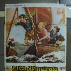 Cine: CDO 473 EL CAPITAN PIRATA VIRGIANIA MCKENNA RONALD FRASER POSTER ORIGINAL 70X100 ESTRENO. Lote 195317861