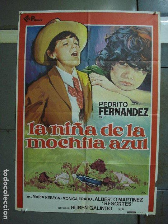 CDO 474 LA NIÑA DE LA MOCHILA AZUL PEDRITO FERNANDEZ JANO POSTER ORIGINAL 70X100 ESTRENO (Cine - Posters y Carteles - Aventura)