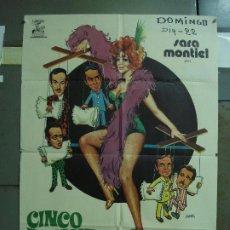 Cine: CDO 477 CINCO ALMOHADAS PARA UNA NOCHE SARA MONTIEL JANO POSTER ORIGINAL 70X100 ESTRENO. Lote 195322940