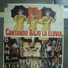 Cine: CDO 477 CANTANDO BAJO LA LLUVIA GENE KELLY DEBBIE REYNOLDS POSTER ORIGINAL 70X100 R-82. Lote 195323245