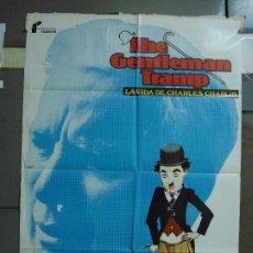 Cine: CDO 479 THE GENTLEMAN TRAMP LA VIDA DE CHARLES CHAPLIN JANO POSTER ORIGINAL 70X100 ESTRENO. Lote 195323451