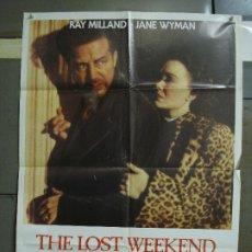 Cine: CDO 480 DIAS SIN HUELLA RAY MILLAND JANE WYMAN BILLY WILDER POSTER ORIGINAL 70X100 ESPAÑOL R-80S. Lote 195324042