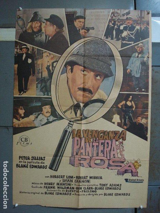 CDO 481 LA VENGANZA DE LA PANTERA ROSA PETER SELLERS POSTER ORIGINAL 70X100 ESTRENO (Cine - Posters y Carteles - Comedia)