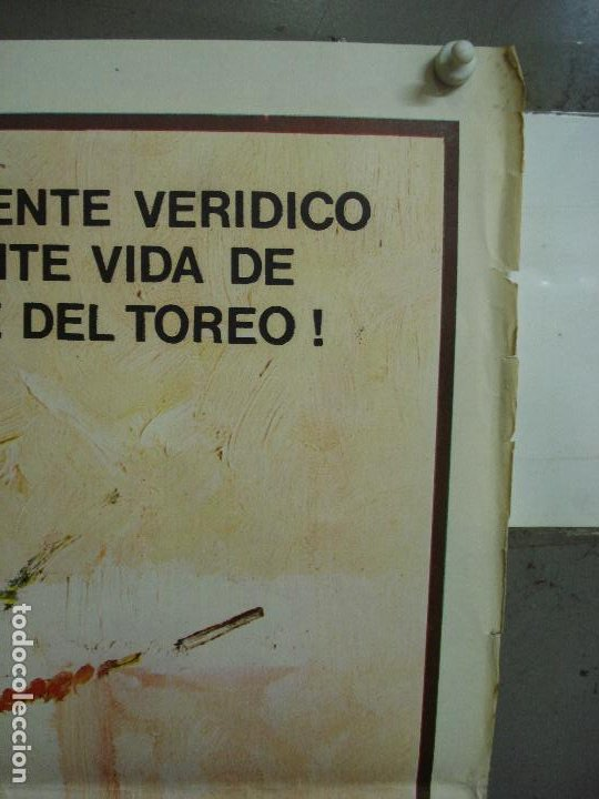 Cine: CDO 484 UN MAESTRO PACO CAMINO TOROS BALLESTER POSTER ORIGINAL 54X97 ESTRENO - Foto 2 - 195325692